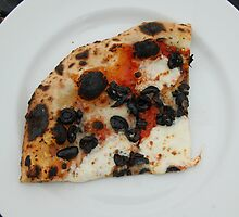 A Slice of Black Olive Pizza by jegustavsen