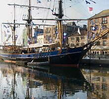 Tall Ship in Barbican Harbour Plymouth by DonDavisUK