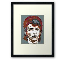 Bowie As Ziggy Framed Print
