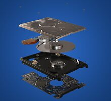 Exploded view harddisk by Ejpokst