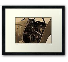 Supermarine Spitfire Cockpit Framed Print