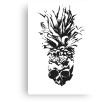 Skull Pineapple Grunge Case Canvas Print