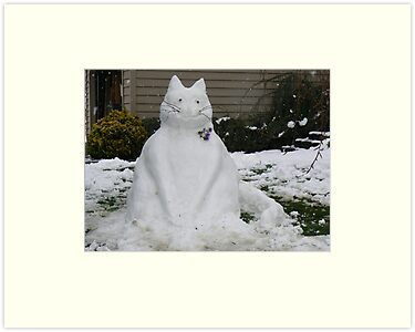 A SNOW CAT FOR YOU  by MsLiz