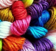 Colors of yarn by Virginia N. Fred