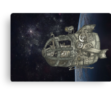 Space Exploring Canvas Print