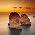 Pigeon Rocks by Tony Elieh