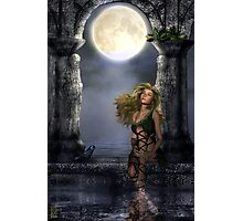 Enchanted By The Moon Photographic Print