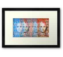 The passage fragment - phases and frequencies Framed Print