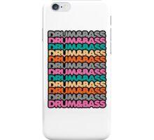Drum & Bass (fierce) iPhone Case/Skin