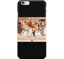 'London Underground' Vintage Poster (Reproduction) iPhone Case/Skin