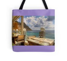 Dining in Paradise Tote Bag