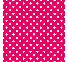 Pink and White Polka Dot Pattern Photographic Print