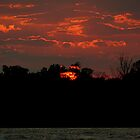 Lake Erie Fall Sunset. by JKKimball