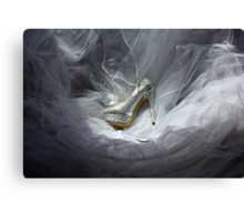 Wedding Shoe Vortex Canvas Print