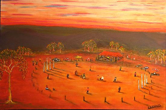Australiana  (Aussie Bush Cricket)  EJCairns  Original Sold  by EJCairns