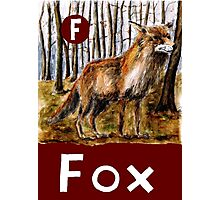 F is for Fox Photographic Print