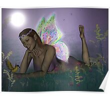 October Lilac Moon Fae Poster