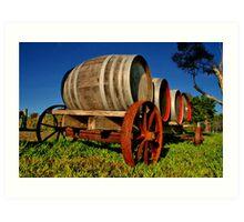 """""""On The Wagon"""" Art Print"""