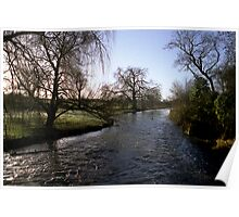 River Itchin from Berry's Bridge Poster