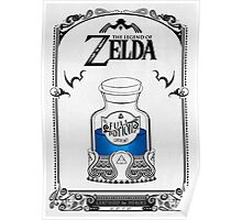 Zelda legend Blue potion Poster