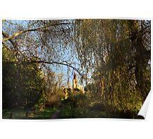 Twyford St. Mary Church from Berry Bridge, Twyford Poster
