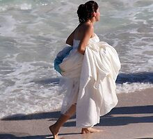Bride  on the Beach by phil decocco