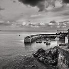 A Moody Day At Coverack, Cornwall by Mike Honour