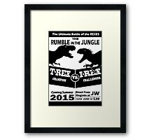 The Rumble in the Jungle Framed Print