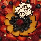 Happy Birthday Fruit Tart by tali