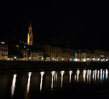Arno a notte by Michael Lane