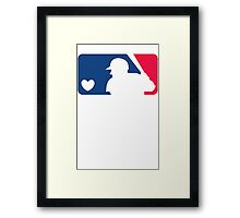 MLB Baseball Tee Framed Print