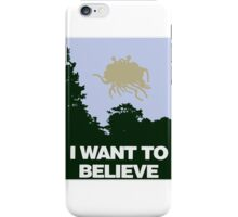 I Want to Believe in the Flying Spaghetti Monster iPhone Case/Skin