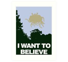 I Want to Believe in the Flying Spaghetti Monster Art Print