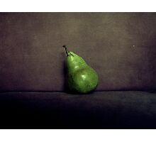 A Single Pear Photographic Print