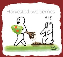 Harvested Two Berries  by Rudy  Solorzano