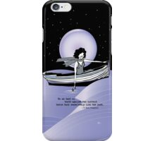 1920s Gatsby Flapper Girl Sea Boat Quote iPhone Case/Skin
