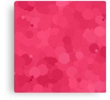 Honeysuckle Bubble Dot Color Accent Canvas Print