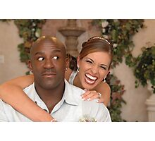 The Groom and His Fiesty Bride II Photographic Print