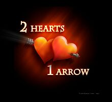 2 hearts and 1 arrow by houk
