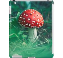 red stipe mushroom on the forest iPad Case/Skin
