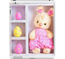 Rabbit bunny toy and easter eggs on the case  iPad Case/Skin