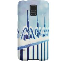 metal decorative fence fragment with snow Samsung Galaxy Case/Skin