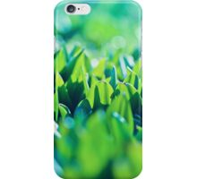 Natural green background with selective focus under the sun iPhone Case/Skin