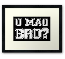 You mad bro couple Framed Print