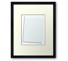 a lined ruled piece of paper Framed Print