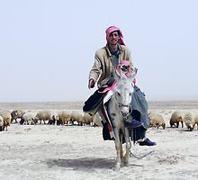 BEDOUIN SHEPHERDS - SYRIA by Michael Sheridan