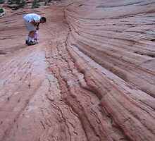 Sandstone Outside The East Gate Of Zion by Laurie Puglia