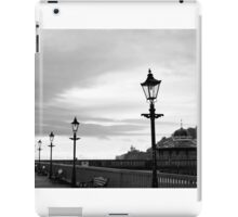 row of vintage lamps in black and white iPad Case/Skin