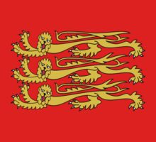 Royal Banner of England, Three Lions, 3 Lions, English, British, Britain, UK, RED Kids Clothes