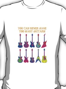 Colorful Electric Guitar Artwork T-Shirt